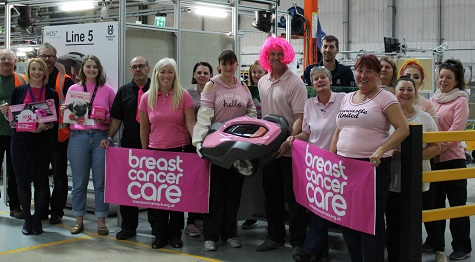 THIRD YEAR OF BREAST CANCER SUPPORT FROM HUSQVARNA