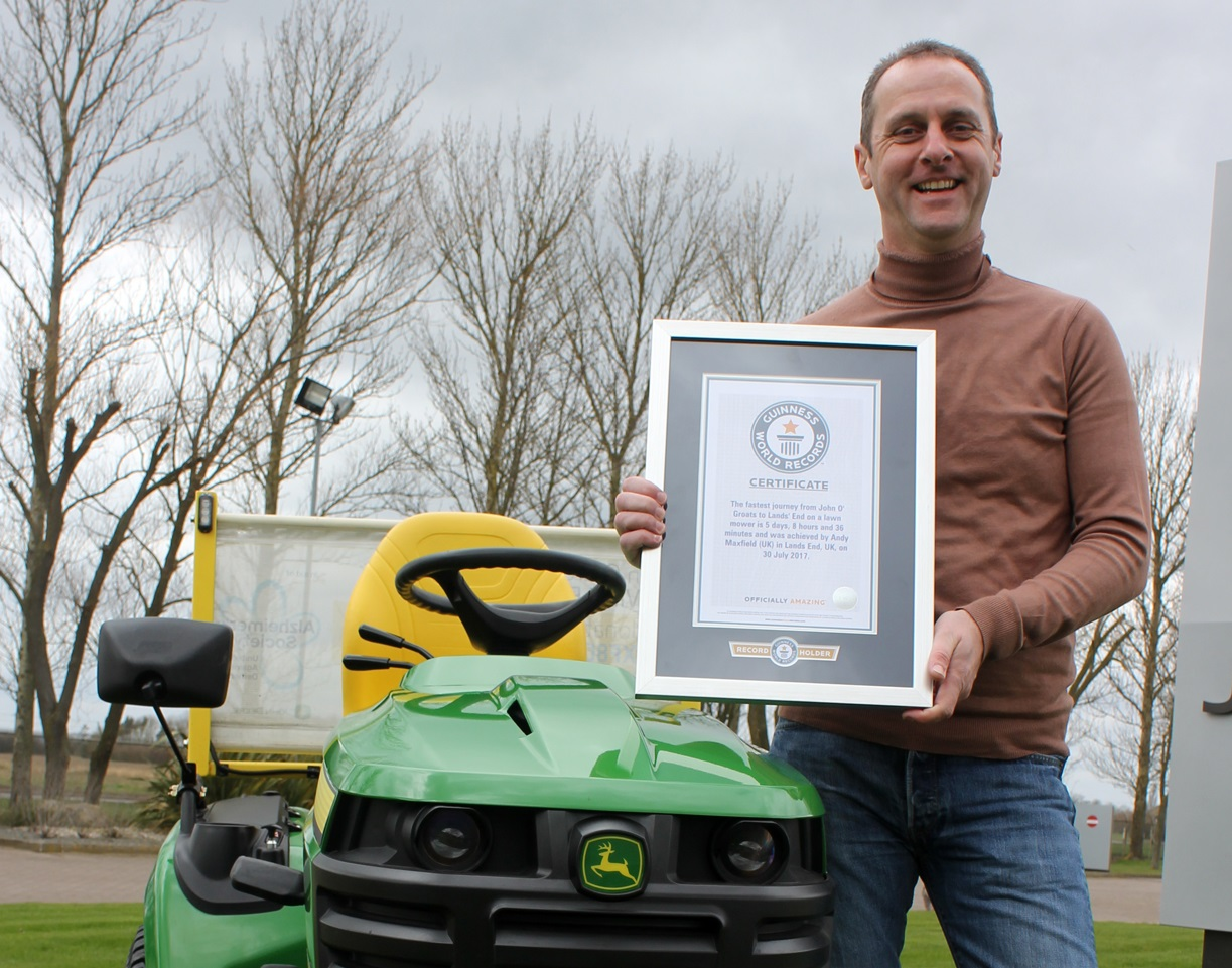 ANDY MOWS DOWN WORLD RECORD