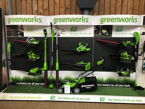 GREENWORKS CORDLESS MACHINES ROLLED OUT THROUGH DOBBIES